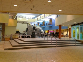 This is the interior of the new student center...