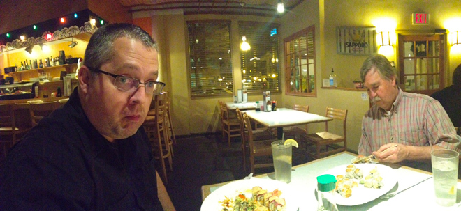 Sushi at Domo with Dave Chance and John Baird.