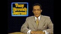 Tony Brown at his news desk.