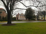 I wandered around campus delivering Christmas presents. Here's our lovely Trustee House.