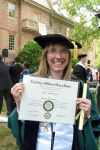 A photo my dad, Don Massie, took outside the Wren Building on graduation day, May 2012.  Can't help but love the cap, eh?