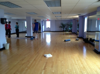 The Mind/Body Studio is on the top (sixth) floor of the Blocker Family YMCA.