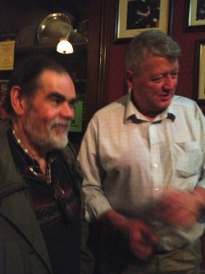 A casteen player with Tom Mulligan.