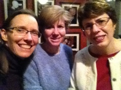 At the Cobblestone with Patty and Kitty Lee.