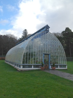 There are winter gardens and greenhouses.