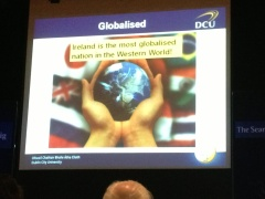 Singapore has been rated as the world's most globalized country. Ireland is #2. Brian notes that's #1 in the Western world.