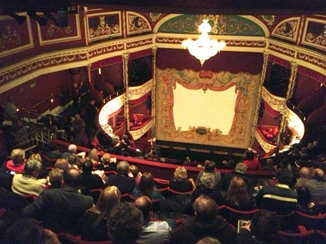 Nose-bleed seats at the Gaiety Theater.