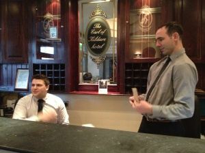 Kildare Street Hotel deskmen Alec and Peter. Ever helpful and full of advice!