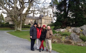 Kitty Lee, Patty, Shannon, and Tony at the lovely Muckross castle/house.