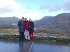 Kitty Lee, Patty, and Shannon at Ladies View, where Queen Victoria and her Ladies in Waiting stopped during their visit to Muckross.