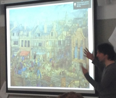 ...and showed us what the district around Dublin City Council looked like in medieval times.