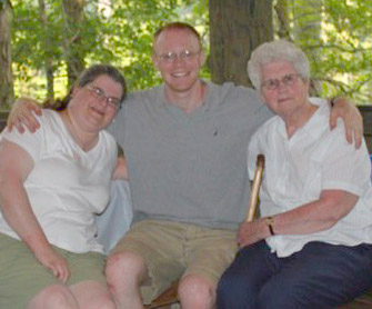 Mary, Mary's nephew Ryan, and Mary's mother Margaret.