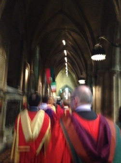 The procession felt a bit like being a (Protestant) monk!?!!