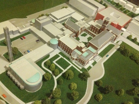 A model of the beautiful campus of St. Patrick's College.