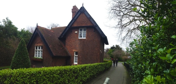 Cottage at the south east corner of St. Stephen's Green.