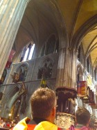 Look closely at the flags and you'll notice Union Jacks hanging in St. Patrick's Cathedral.