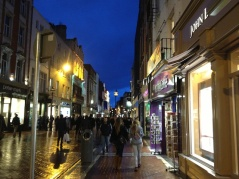 Grafton Street by night.