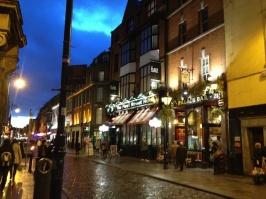 View west on Fleet Street.