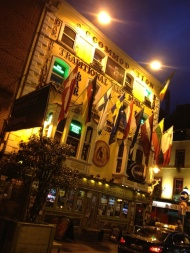 Temple Bar is alway hopping at night.