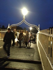 The bridge is a popular tourist site and a major route for pedestrians.