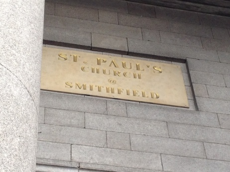 ...I'd forgotten until Amanda remarked how strange it is to have at @ on the name plaque of a church.