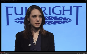 Amanda Bernhard explains why and how she became a Fulbright student.