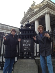 We didn't make it to the Bank of Ireland (location of the former Parliament chamber) before closing time...