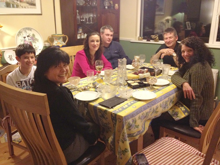 Dinner at the Murphy home.