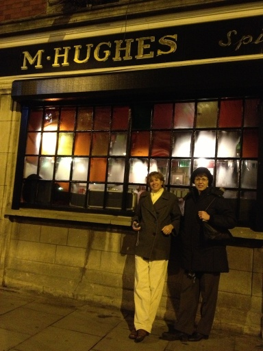 "On the way home, we passed Hughes Pub. We went ""window shopping"" because we were too worn out to go in!"