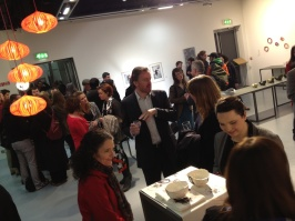 The National College of Art and Design (NCAD) draws a big crowd on First Thursdays... even on a rainy night!