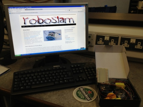 The RoboSlam site provides step-by-step instructions