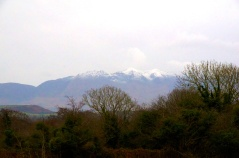 We even saw snow-capped hilltops...