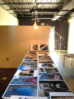 The photos drying at Dave's new studio in downtown Portsmouth, Virginia.