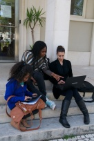 Even the business students on this campus work in teams.