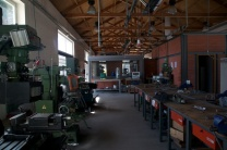 I loved working in the wood and metal machine shops.