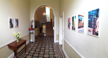 Entry hall of O'Connell House on Merrion Square.