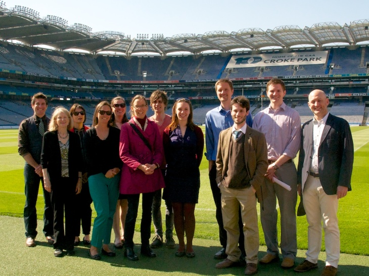 The Fulbright Ireland crew at Croke Park for our farewell field trip.
