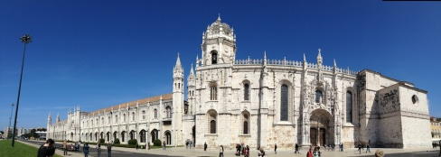 The Jerónimos Monastery...