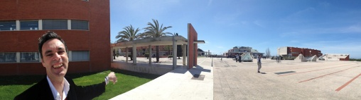 Jose gave a me a grand tour of the campus of the University of Aveiro.