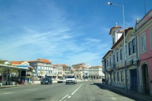 Here's a view of downtown Aveiro.