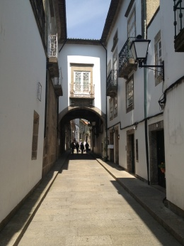 Here's an archway framing the street...