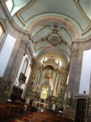 Here's the inside of a church in Guimarães.
