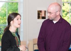 Christine McDonald and architect Mairtin D'Alton.