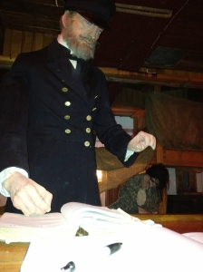 The tour guide tells the story of each character on the ship.  (This guy reminds me of my red-bearded friend Wayne.)
