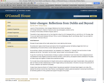 O'Connell House news