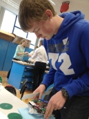 ...and making sure they fit the chassis and electronic components.