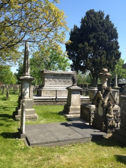 ...and learned how they'd bought remains of a famous person from the UK here, to convince people to use this cemetery.