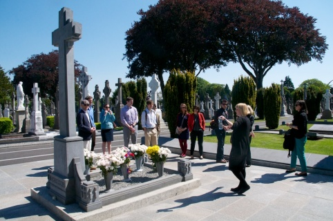 ...visiting Michael Collins grave...