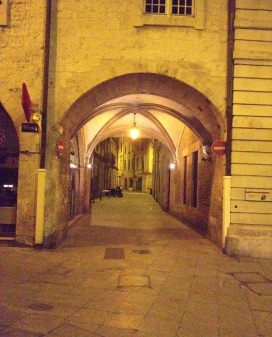 An arch at the Place Marche.
