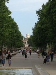 The new plaza outside Nimes' train station
